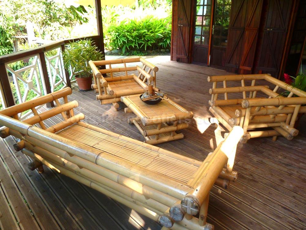 Salon De Jardin En Bambou - Architecture & Design - Sncast.com
