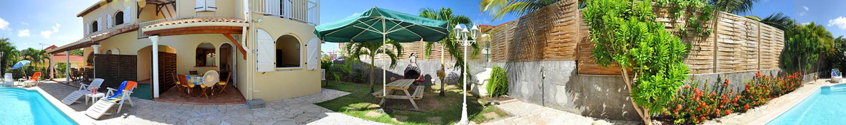 Location martinique soleil du sud f3 modulaire sainte for Villa modulaire martinique